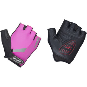 GripGrab ProGel Hi-Vis Padded Short Finger Gloves pink